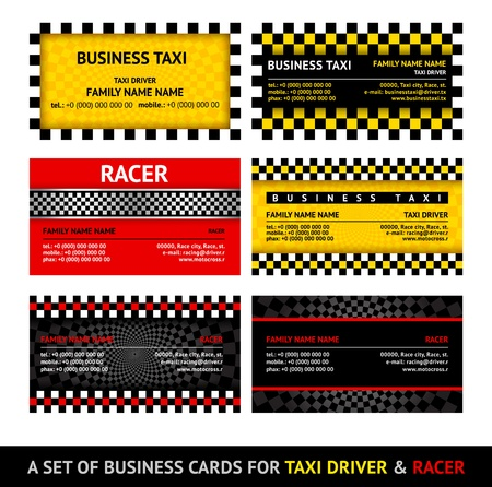 Business card taxi - eleventh set Vector