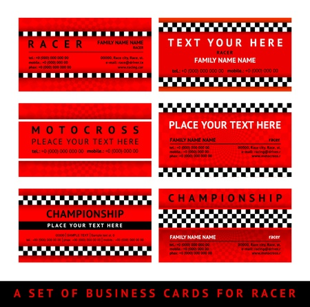 Business card driver race - fourth set Stock Vector - 18847758