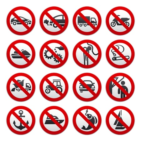 tractor warning sign: Prohibited symbols