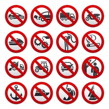 Verboden symbolen Stock Illustratie
