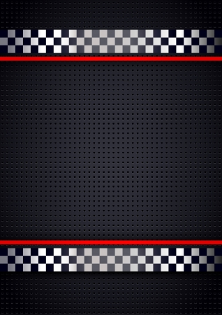 Racing background, metallic perforated