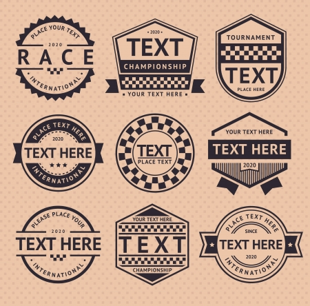 Racing insignia, vintage style Vector