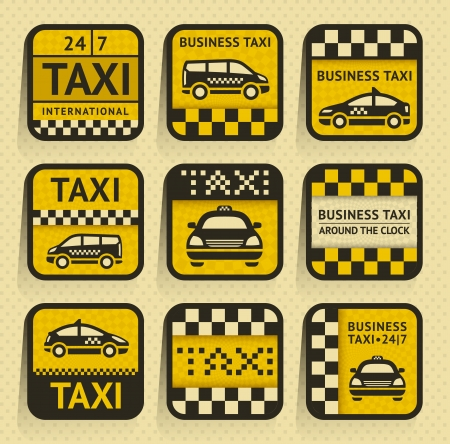 business class travel: Taxi insignia, old style Illustration