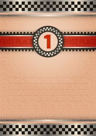 speedway: Certificate of award, retro color Illustration