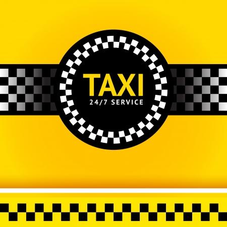 Taxi symbol, square Illustration