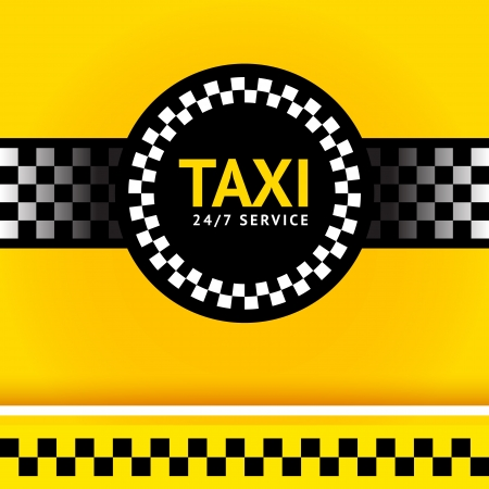 checker flag: Taxi symbol, square Illustration