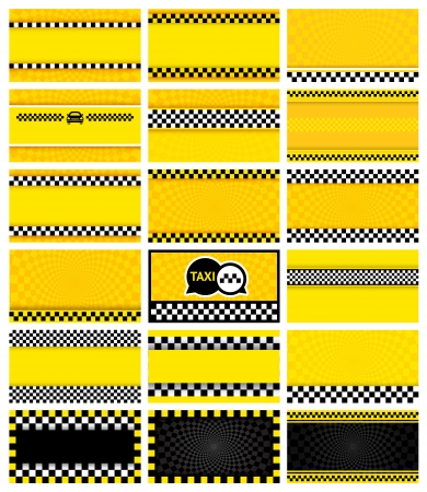 new york taxi: Business card taxi, vector illustration