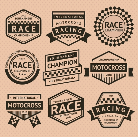 sports race emblem: Racing insignia Illustration