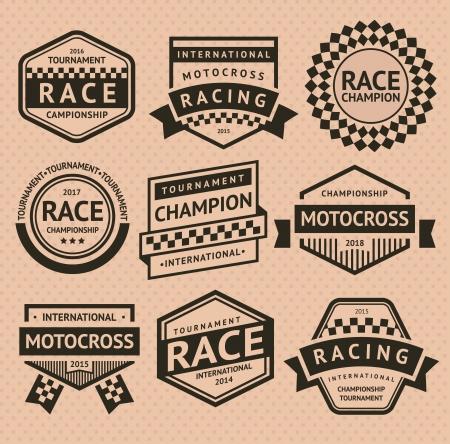 checkered label: Racing insignia Illustration