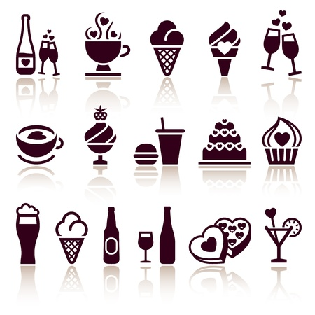 pictogram attention: Set food icons