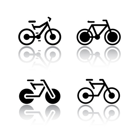 bycicle: Set of transport icons - bikes
