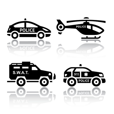 police car: Set of transport icons - Police part 2