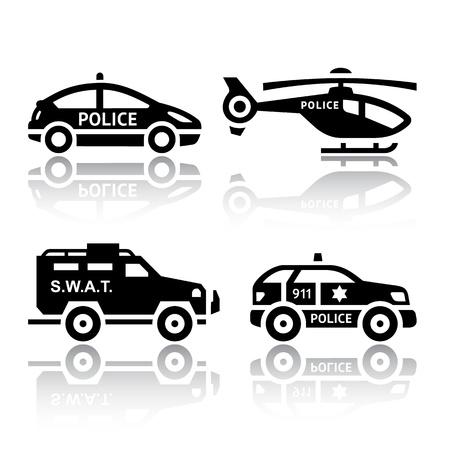 ranger: Set of transport icons - Police part 2