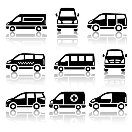 Set van transport pictogrammen - Van Stock Illustratie