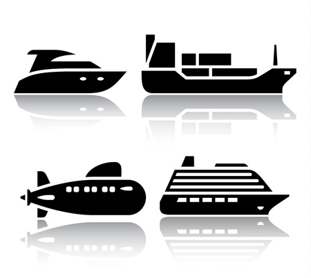 Set of transport icons - Water transport Stock Vector - 19490709