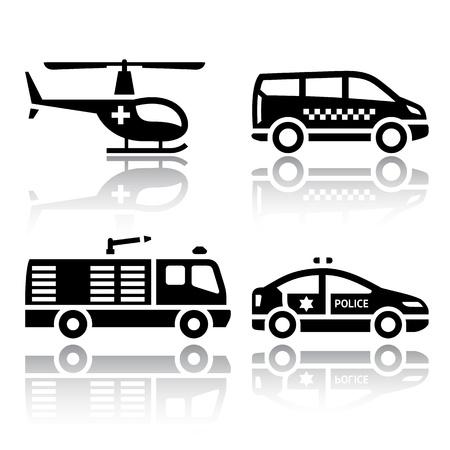 black cab: Set of transport icons - transport services Illustration