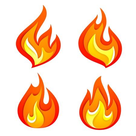 Fire flames 일러스트