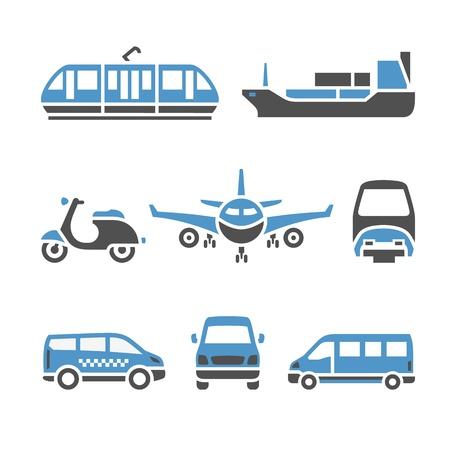 sprinter van: Transport Icons - A set of ninth