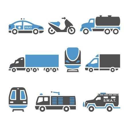 Transport Icons - A set of eighth Vector