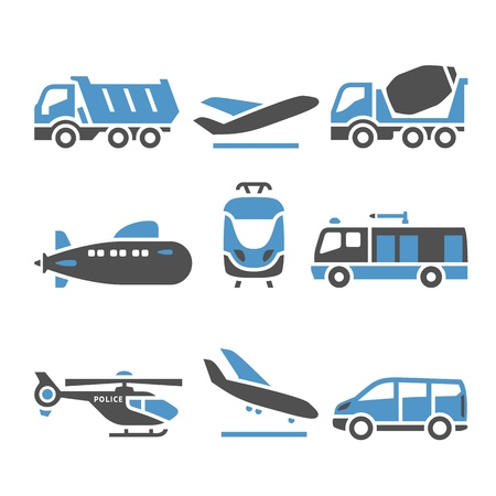 subway road: Transport Icons - A set of eleventh