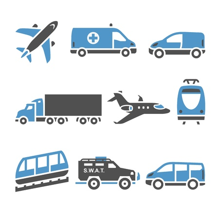family van: Transport Icons - A set of seventh