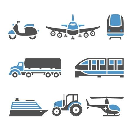 tanque de combustible: Iconos de transporte - Un conjunto de diez