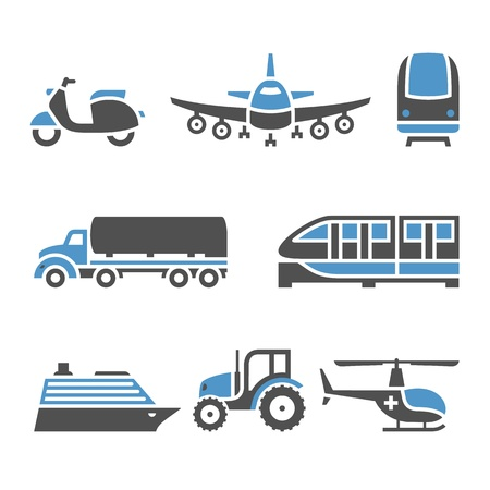 world agricultural: Transport Icons - A set of tenth