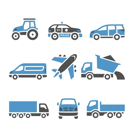 agrimotor: Transport Icons - A set of twelfth