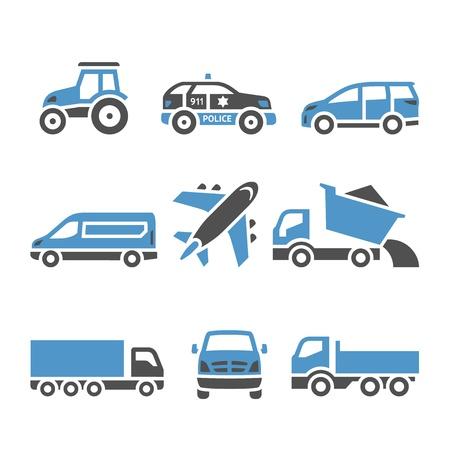 sprinter van: Transport Icons - A set of twelfth