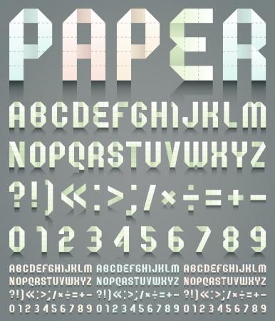 roman alphabet: Alphabet folded of perforated paper Illustration