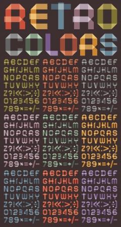 rekensommen: Lettertype van gekleurde tapes