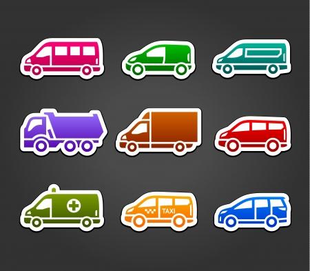 sprinter van: Set of sticky stickers, transport color signs