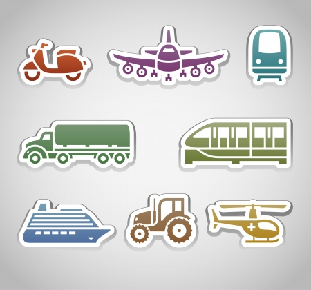 agrimotor: flat retro color stickers