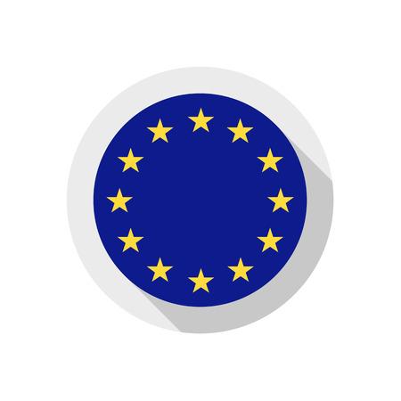 eu flag: European Union, vector illustration