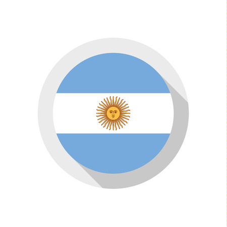Flag of Argentina, vector illustration Vector