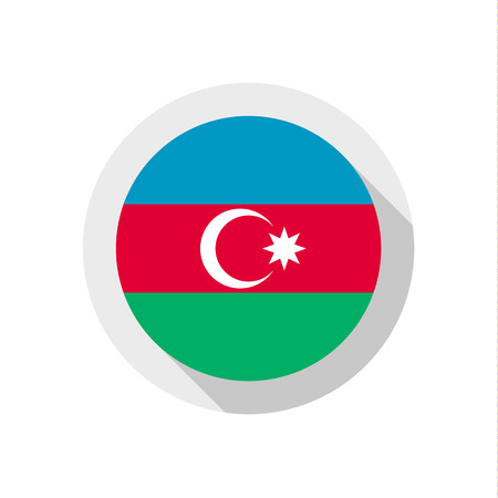 azerbaijan: Flag of Azerbaijan, vector illustration