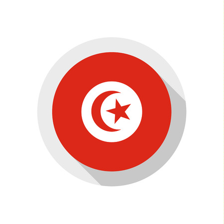 Flag of Tunisia, vector illustration Vector