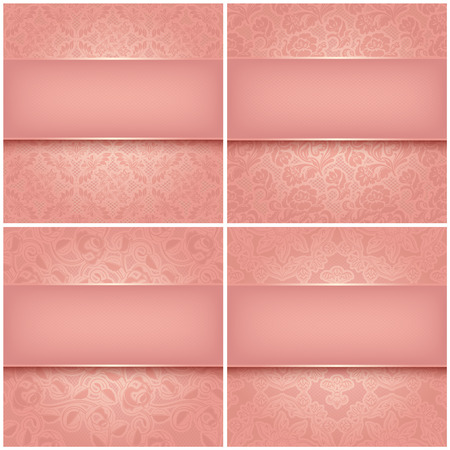 strip structure: Backgrounds pink ornamental fabric texture  Can be used for invitations to any of your ceremony   Illustration