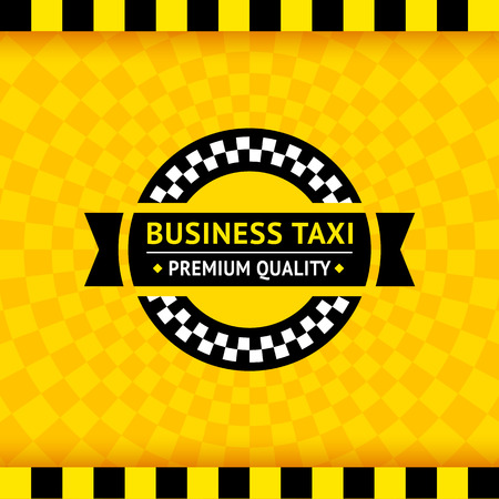 Taxi symbol with checkered background  Illustration