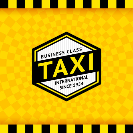 10eps: Taxi symbol with checkered background - 09, vector illustration 10eps