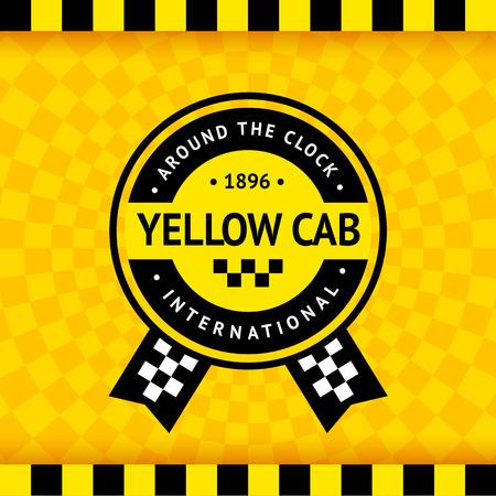 Símbolo Taxi con el fondo a cuadros