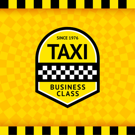 ny: Taxi symbol with checkered background  Illustration