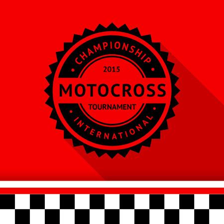 motorsport: Racing stamp-01 illustration