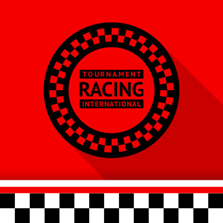 Racing stamp-03 illustration Vector