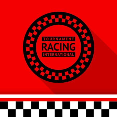 Racing stamp-03 illustration Illustration