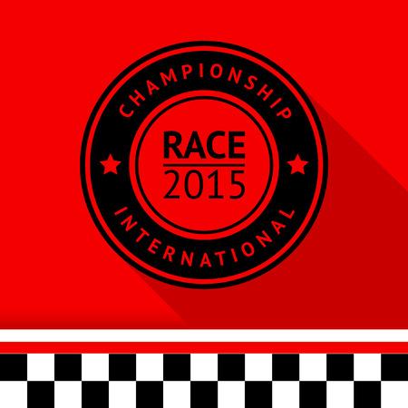 motorsport: Racing stamp-05 illustration