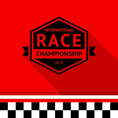 motorsport: Racing stamp-06 illustration