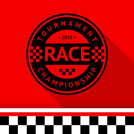 Racing stamp-07 illustration Vector