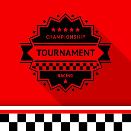 motorsport: Racing stamp-11, illustration