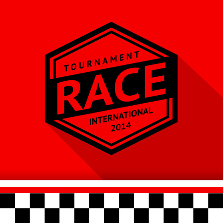 Racing stamp-13 illustration Vector